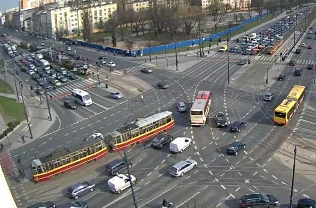 Awaria tramwaju na skrzyżowaniu marszałków
