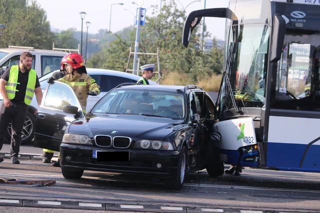 Wypadek na moście Grunwaldzkim