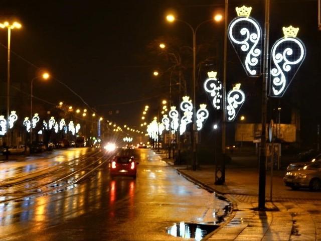 Iluminacja świąteczna w Pabianicach