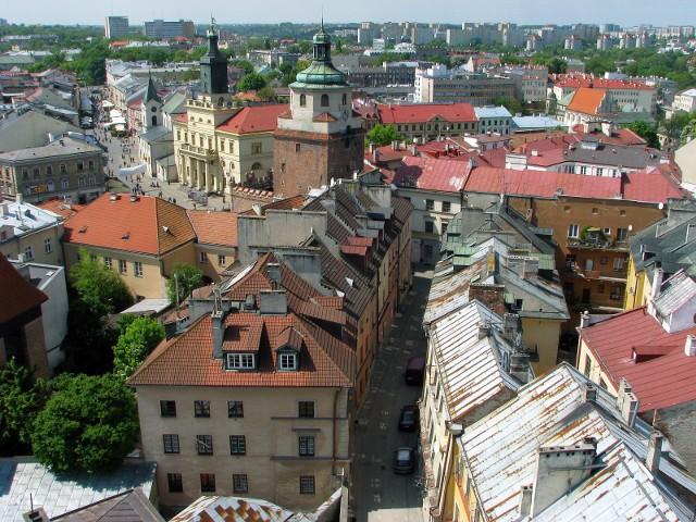 Widok na LublinLublin: przewidywany spadek cen mieszkań w kolejnych 12 miesiącach