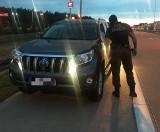 Straż graniczna po pościgu odzyskała wartą ponad ćwierć miliona złotych toyotę [ZDJĘCIA, WIDEO]