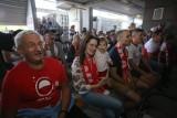 Strefa Kibica na stadionie Górnika Zabrze ZDJĘCIA Kibice oglądali mecz Polska - Słowacja w plenerowym Sport Pub Arena Zabrze