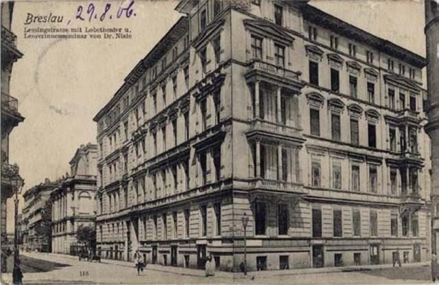 Skrzyżowanie Dobrzyńskiej i Sandomierskiej (dzisiejszy plac Społeczny). Rok 1906