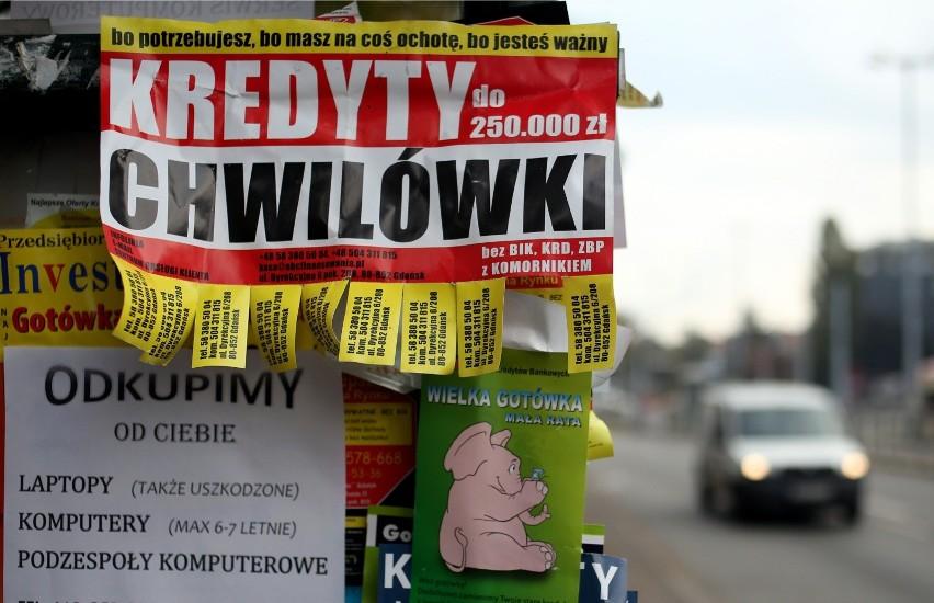 21.10.2014 gdansk miasto ulica nowe ogrody slup ogloszeniowy...