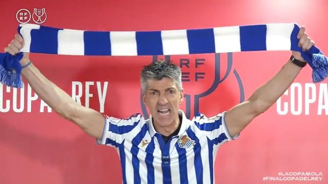 Imanol Aguacil oszalał po pierwszym od 34 lat trofeum dla Realu Sociedad.