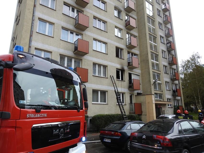 Przy ul. Włókienniczej paliło się mieszkanie na pierwszym...