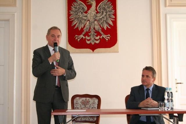 Minister Henryk Kowalczyk i burmistrz Jerzy Bauer
