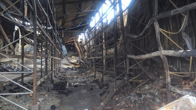 Pożar w Katowicach: spalona hala przy Żeliwnej