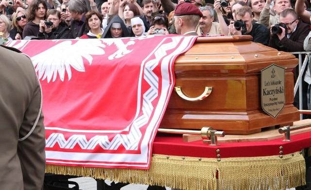 Pogrzeb prezydenckiej pary w Krakowie.