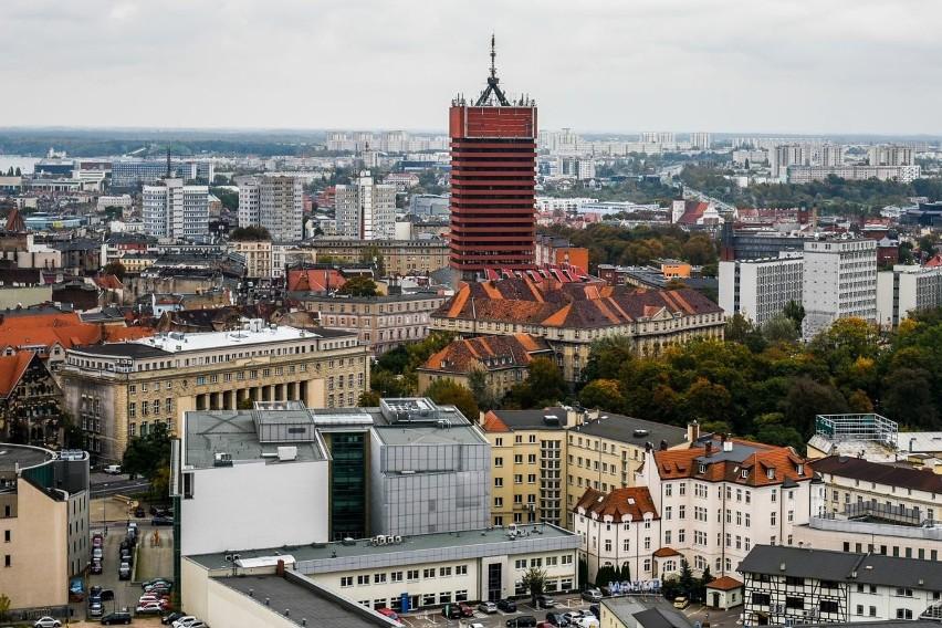 Wspięliśmy się na ostatnie piętro wieżowca Bałtyk, by...