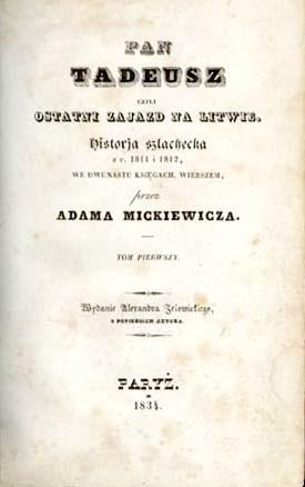Antykwaryczne wydanie Pana Tadeusza