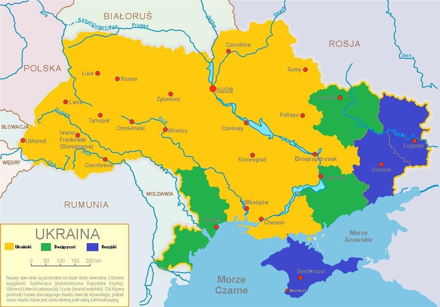 Krym Mapa Jezykowa Oraz Podzial Administracyjny Autonomicznej