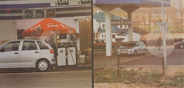 """Informacja o szaleńczym pościgu za bandytami  znalazła się na pierwszej stronie """"Kuriera"""" 4 kwietnia 2002 roku"""