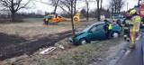 Wypadek pod Wrocławiem. Jedna osoba ranna, lądował śmigłowiec LPR [ZDJĘCIA]