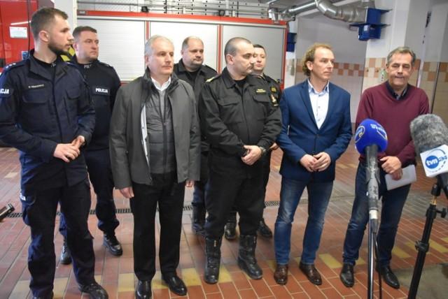 Pożar w hospicjum w Chojnicach 6.01.2020. Konferencja na temat tragedii.