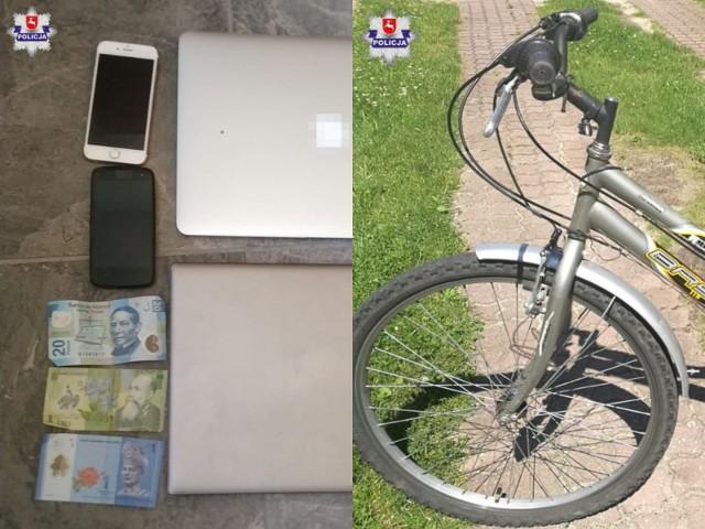 Nawet 10 lat więzienia grozi 20-latkowi, który w ubiegłym tygodniu z jednego z domów w Biłgoraju ukradł m.in. laptopy, telefony, dokumenty i niewielką kwotę pieniędzy