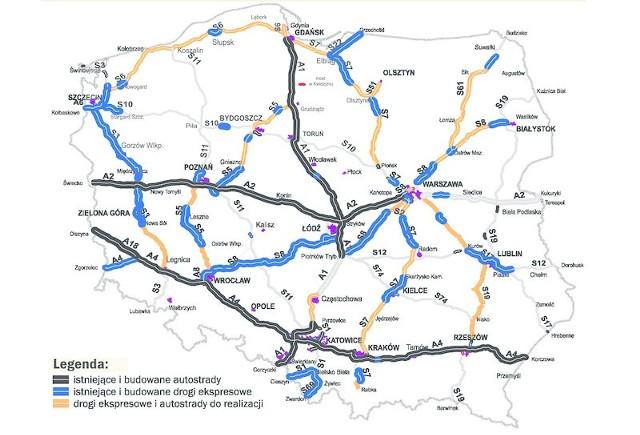 """Tak wygląda rządowy plan budowy dróg na lata 2014-2020. Wybudowany ma być cały odcinek ekspresowej """"szóstki"""" od Goleniowa do Gdańska"""