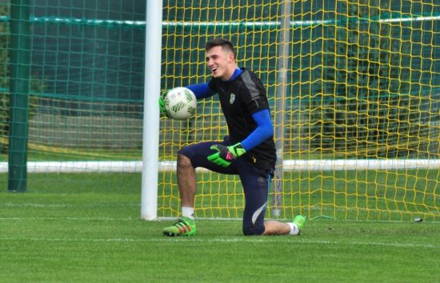 19-letni Karol Dybowski (na zdjęciu) nie zawiódł jesienią trenera Siarki Tarnobrzeg Włodzimierza Gąsiora.