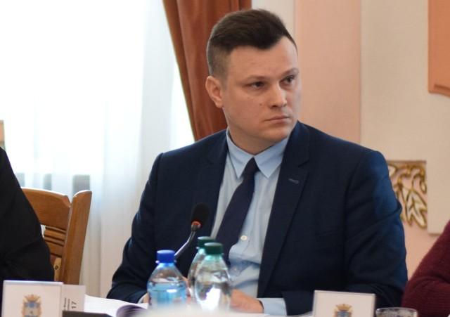 Radny Marcin Nazarewicz. Przewodniczący komisji infrastruktury technicznej RM Jarosławia.