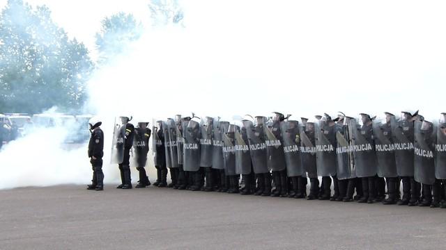 Na meczu Pilica - ŁKS policjantów było mniej więcej tylu samo, co kibiców z Łodzi