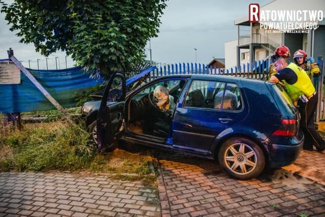 Pijany kierowca wjechał w płot