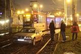 Kierowca BMW z Trzebnicy pomylił torowisko z ulicą