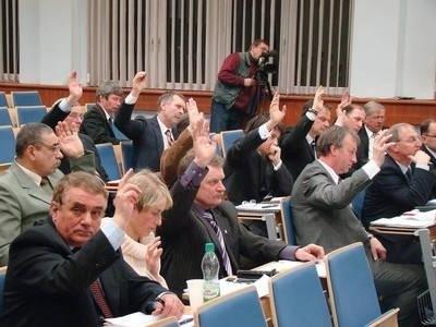 Głosowanie nad budżetem Fot. Anna Szopińska