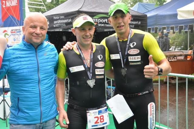 Organizatorzy półmaratonu, od lewej: Tomasz Wąsowski, Gerard Magdziarz i Karol Mochocki.