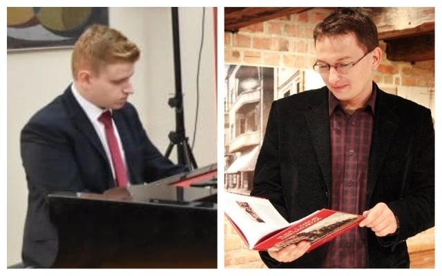 Pianista Jakub Gromadziński otrzymał 5 tys. zł, a historyk Dawid Schoenwald (z prawej) otrzymał 4,5 tys. zł stypendium kulturalnego Grudziądza