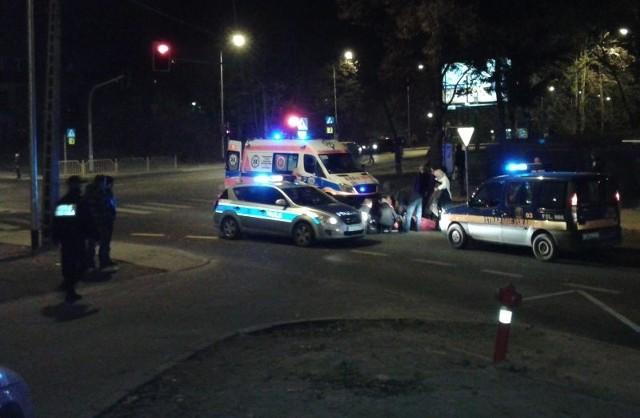 Wypadek na skrzyżowaniu ulic Hożej i Obotryckiej w Szczecinie