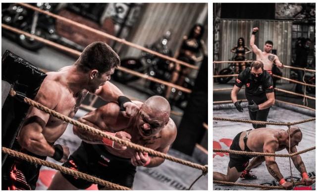 """Torunianin Krystian """"Tyson"""" Kuźma przegrał z Mateuszem """"Don Diego"""" Kubiszynem w finale GROMDY, gali walk na gołe pięści. Stawką pojedynku było 100 tys. zł. W trzeciej rundzie """"Don Diego"""" miał coraz większą przewagę i w końcu znokautował Kuźmę. """"Tyson"""" źle przyjął porażkę: opuścił ring przed ogłoszeniem werdyktu i nie pogratulował zwycięzca rywalowi.Na następnych zdjęciach kolejne zdjęcia z walki """"Tysona"""". Aby przejść do galerii, przesuń zdjęcie gestem lub naciśnij strzałkę w prawo."""