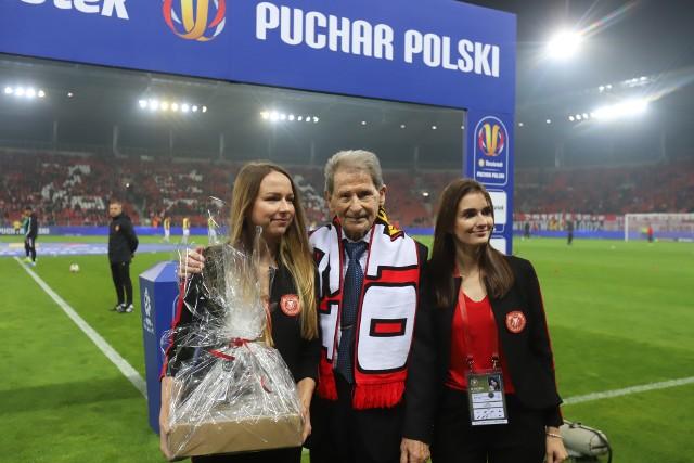 Wybitny trener Widzewa Bronisław Waligóra był gościem specjalnym na pucharowym meczu Widzewa ze Śląskiem Wrocław