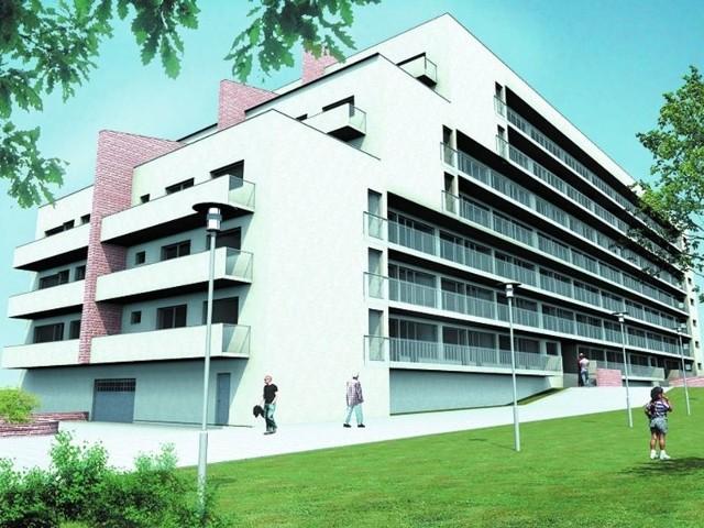 Wizualizacja apartamentowca przy al. Jana Pawła IIWizualizacja apartamentowca przy al. Jana Pawła II