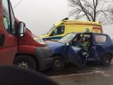 Wypadek w Aleksandrii. Zderzyły się czołowo dwa auta