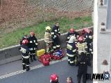 Próba samobójcza na A4. Desperat skoczył z wiaduktu