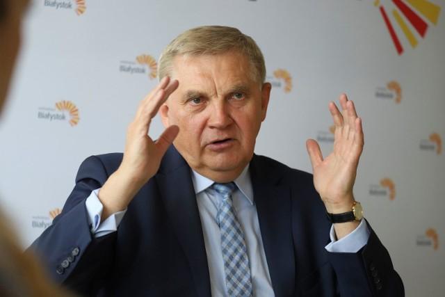"""Faktycznie """"Solidarność"""" wcześniej też popierała prezydenta Andrzeja Dudę. Zaciskałem jednak zęby i dawałem jeszcze kolejną szansę - mówi prezydent Tadeusz Truskolaski."""