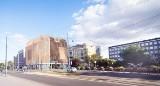 """Hotel z """"drewna"""" sensacją internetu. Ma stanąć w centrum Łodzi przy skrzyżowaniu ulic Narutowicza i Sienkiewicza"""