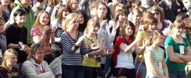 Do Jarosławia przyjechała młodzież z całej diecezji przemyskiej.