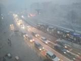 Śnieżyca we Wrocławiu. Nagła zmiana pogody i fatalna sytuacja na drogach Dolnego Śląska [ZDJĘCIA]