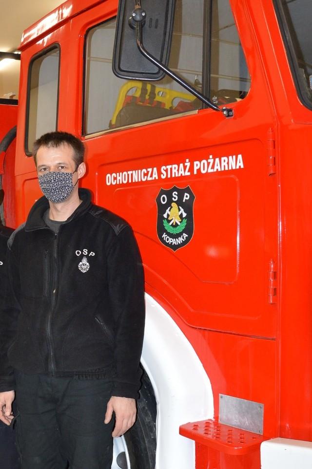 Prezes Marcin Mocha pojawił się w remizie kilka minut po opuszczeniu jej przez włamywacza