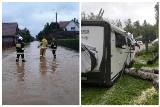 Ulewa w województwie podlaskim. Wypadki, kolizje, zalane ulice, piwnice, lokale. Strażacy mają pełne ręce roboty (RAPORT)