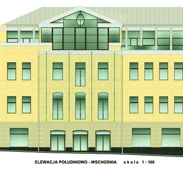 Tak wygląda projekt nowej fasady budynku od strony ul. Malmeda
