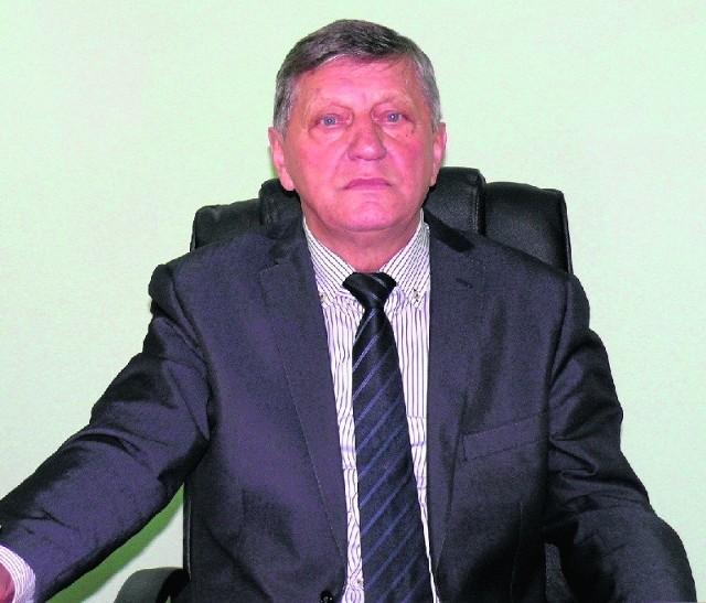 """Tadeusz Domińczak, nowy wójt gminy Sobków, jak twierdzi, chce w gminie """"przywrócić normalność""""."""