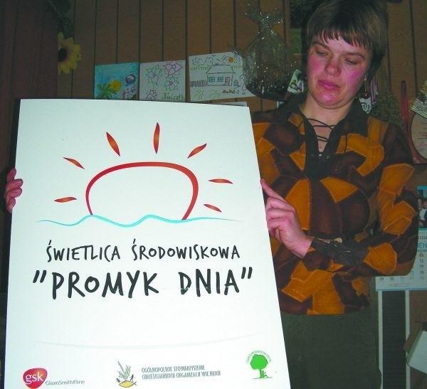 """Helena Rejent, wychowawczyni Świetlicy Środowiskowej """"Promyk Dnia"""" w Lewkowie Starym"""