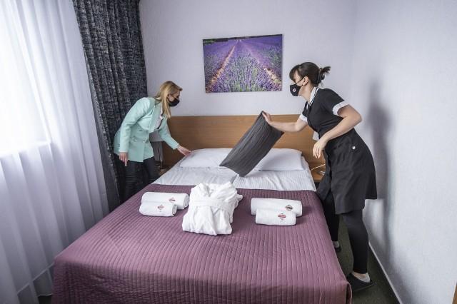 Apartament w Hotelu Gromada w Poznaniu.