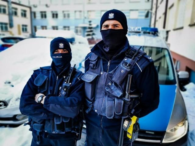 Białostoccy policjanci na służbie