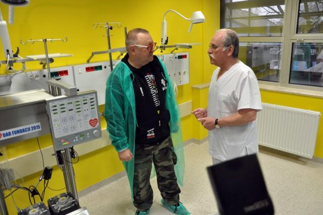 Prof. Janusz Skalski i Jerzy Owsiak