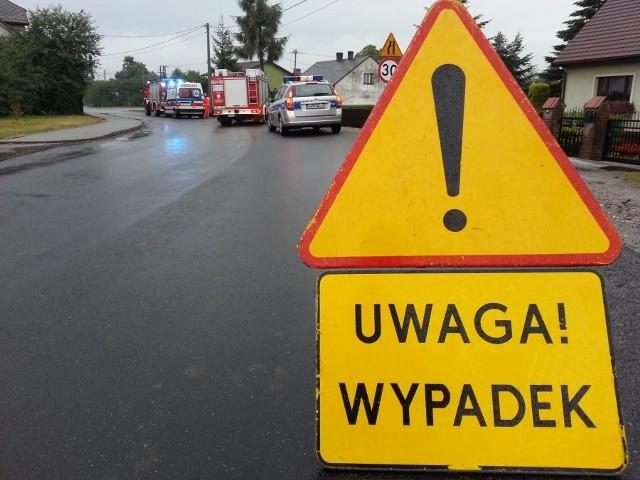 Wypadek w Kościelcu. Ranne zostały dwie osoby