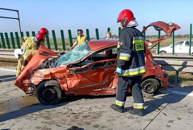 W wyniku wypadku autostrada A4 pod Wrocławiem jest zablokowana 10.10.2021