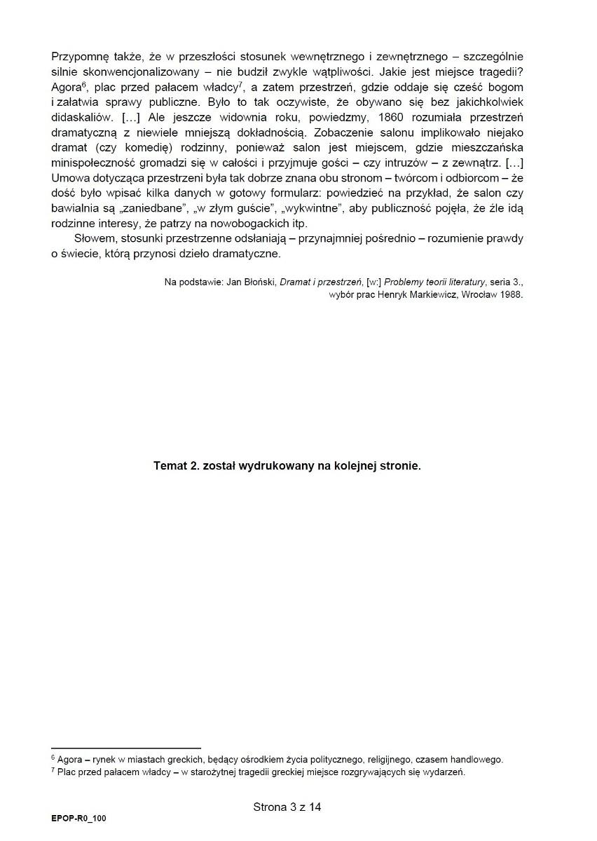 Matura 2021: język polski, poziom rozszerzony. ARKUSZ CKE...